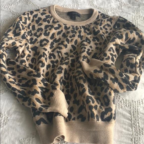 17e4cf536ad4bc J. Crew Sweaters - J.Crew Leopard print crew neck sweater